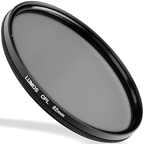LUMOS Filtre polarisant circulaire 82mm | slim filtre CPL pour Lentille Ø 82 mm