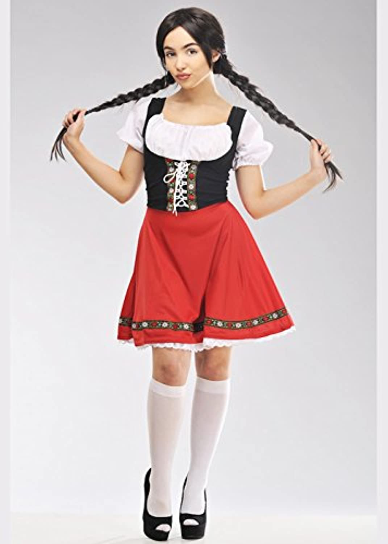 MAGICscatola donna Heidi Style rosso Bavarian Costume XL (UK 18-20)