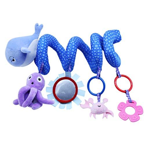 NUOBESTY - Juguete de peluche para bebé, juguete colgante con campana, carillones eólicos, espiral, enrollarse alrededor de la cama, para bebé o coche