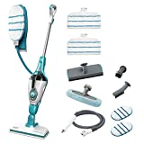 Black & Decker FSMH1351SM-QS Steam Broom 9 in 1 with Hand Cleaner Steam Mop 1300 W Glove, color Blue