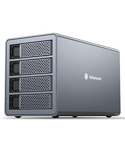 Yottamaster 4 Bay Festplatten Gehäuse,Aluminum SATA 5Gbps Externe FestplatteGehäuse for 2.5
