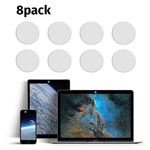 blackdot.one - Webcam Abdeckung [8 St. Ø 12 mm weiß] | Webcam Cover. Kein lästiges An- und Abkleben | Laptop Camera Cover | Kamera Abdeckung Laptop | Handy Kamera Abdeckung