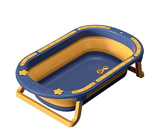 GRFD Bañera Plegable portátil, bañera con Letras para bebés, bañera Gruesa de Gran Capacidad y respetuosa con el Medio Ambiente, Drenaje Inferior Conveniente, Adecuado para bebés de 0 a 5 años