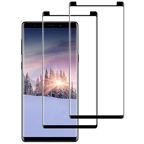 DOSNTO Panzerglas für Samsung Galaxy Note 8 (2 Stück),3D Vollständigen Abdeckung,9H Härtegrad, Anti-Kratzen, Anti-Bläschen, Hülle Fre&llich, Ideal Schutzfolie für Samsung Galaxy Note 8