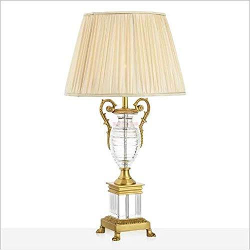 Tischlampen Tischlampe Kristall Trophy Reines Messing Luxus Wohnzimmer Villa Hotel Rezeption Schlafzimmer Tischlampe