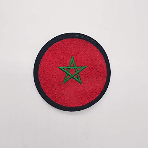 Patch Marokko-Flagge, 7 cm