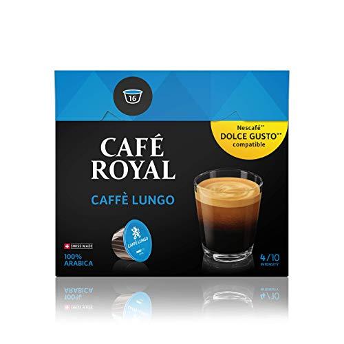 Café Royal Caffé Lungo 48 Nescafé Dolce Gusto kompatible Kapseln (Intensität 4/10) 3er Pack (3 x 16 Kaffeekapseln)