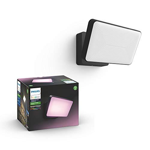 Philips Hue Discover Proyector exterior, luz blanca y de colores, compatible con Amazon Alexa, Apple HomeKit y Google Assistant