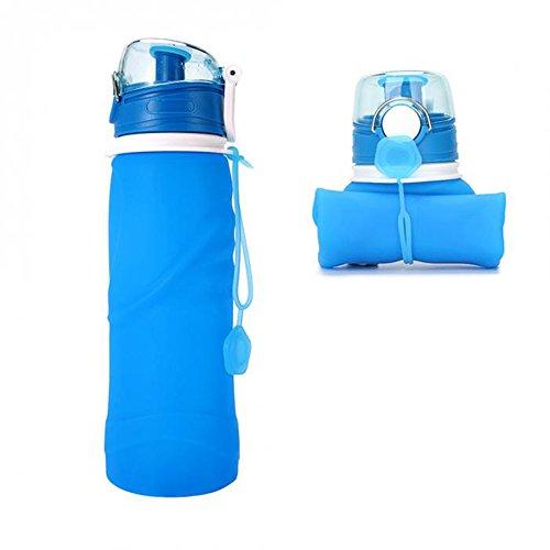 BOTTIGLIA di acqua in silicone LRO pieghevole Spremere Bottiglia Da Palestra Sport PORTATILE CAMPEGGIO