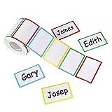 Adesivo Nome Tag Etichette Colorato Adesivi Plain per identificazione bambini per scuola, ...