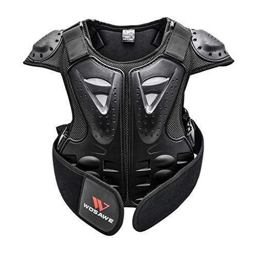 F Fityle Espina Dorsal Protector de Chaleco Ropa para Niños Motocicleta Motos de Cross Motociclismo Mountain Bike Ciclismo - S
