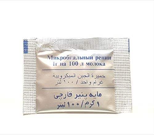 Microbial Rennet Pack de 6 bolsitas 6 x 1 g Utiliza una bolsita para 100 litros de leche.