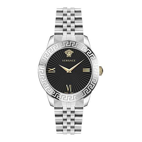Versace Damen Armbanduhr GRECA S.38 MM D/BLK B/SS Stee V280 VECV004 19