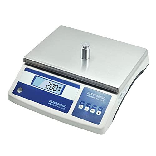 WZ Báscula Conteo Industrial Laboratorio Balanza Laboratorio Precisión 1g Báscula Pesaje Y Conteo Escala Científica Gramo para Contar Piezas (Size : 31kg/1g)