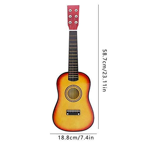 PNLD 23inch Basswood Ukulele Leichte Excellent Bunte Gitarre Streichinstrumente for Anfänger (Farbe : SC, Größe : 23 inches)