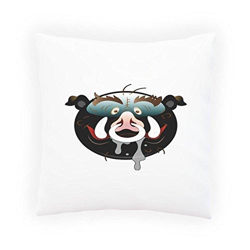 INNOGLEN Smile-Monster-Schwein-Gesichts-Neuheit-lustige Vintage Kunst Dekoratives Kissen, Kissenbezug mit Einlage/Füllung oder ohne, 45x45cm a295p