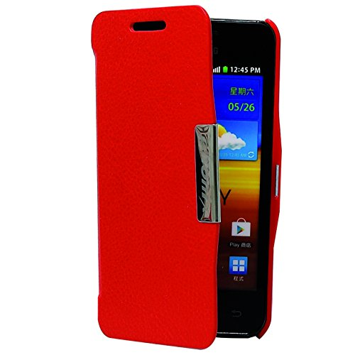 Phonix S9070BCR Öko-Leder Buch-Hülle für Samsung i9070 Galaxy S Advance rot