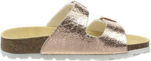 Superfit Mädchen Fussbettpantoffel Pantoffeln, Gold (Bronze 99), 36 EU