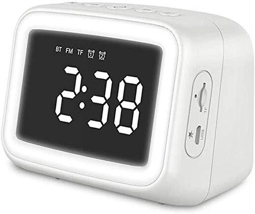 Reloj de espejo Reloj de alarma doble Tarjeta de luz nocturna Altavoz Bluetooth Regalo Tarjeta de altavoz Reloj Pequeño Altavoz