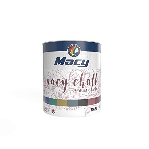 Pintura Macy-Chalk para Interior. Acabado Efecto Tiza-Empolvado. Redecora tus muebles. 375 Mililitros. Color Azul Fidji