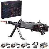 SESAY Technik M249 - Juego de construcción de rifle (1408 piezas, con motor, caja de batería y función de disparo, compatible con Lego)