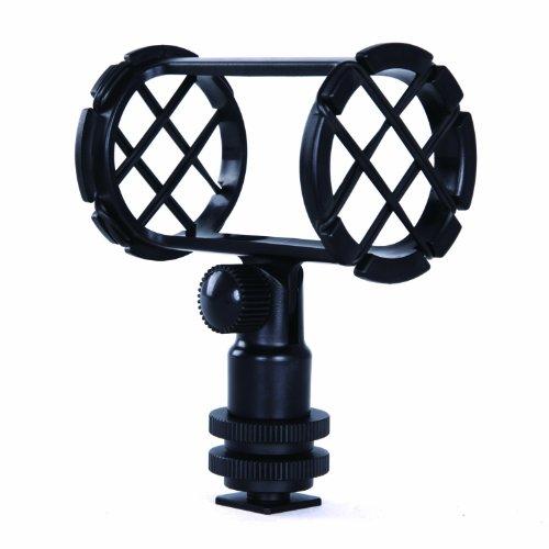 Movo SMM1 Microphone Shock Mount with Camera Cold Shoe for Shotgun Microphones 19-25mm in Diameter (Including Rode NTG-1, NTG-2, Sennheiser MKE-600)