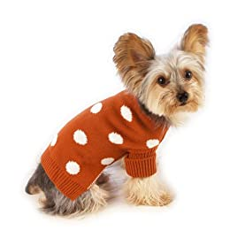 red polka dot dog sweater
