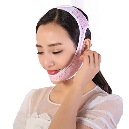 Ceinture lifting Thin Face Belt - Ceinture faciale mince respirante haute élastique Masque facial mince Artefact V Masque Masque respirant Leak Fat Chin (deux tailles) (Couleur : M)