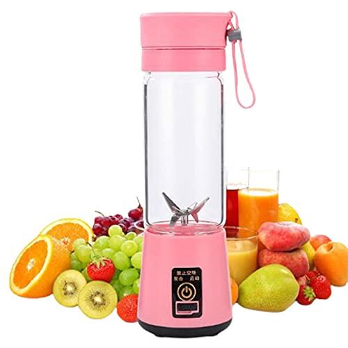5665 Spremiagrumi Multifunzione Portatile Spremiagrumi Elettrico USB Ricarica Spremiagrumi Mini Home Juice Cup Mini Frullatore Personale per Frullati,Pink-fourleaves