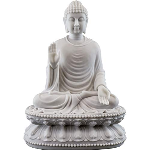 Top Collection Shakyamuni Buddha Statue - Buddha, Sage of The Shakyas Sculpture in Premium Cold-Cast Marble - 9-Inch Seated Buddha Figurine
