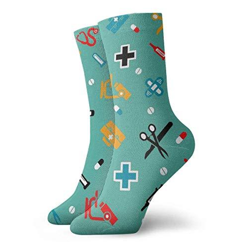 N/A Anzug-Socken,Business Socken,High Performance Tennissocken,Sport/Sneaker Socken,Dental Dentist Moisture Control Laufsocken Langlebige Atmungsaktive Trainingssocken