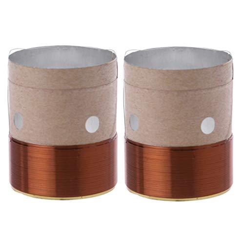 SimpleLife hoogte-draaistoel, kern ronde messingdraad woofer trilspoel aluminium voor luidsprekerreparatie (25,5 mm 8 Ohm)