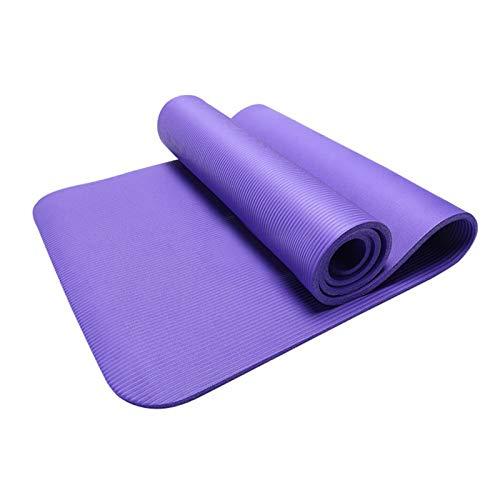 GKXAZ Alfombras de Yoga Hombres y Mujeres súper Grueso 1830 * 610mm sin Deslizamiento Almohada cojín Aptitud Aptitud Gimnasio instantánea Estera (Color : Purple)