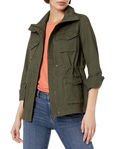 Amazon Essentials Utility Jacket Chaqueta, Verde Oliva Oscuro, M