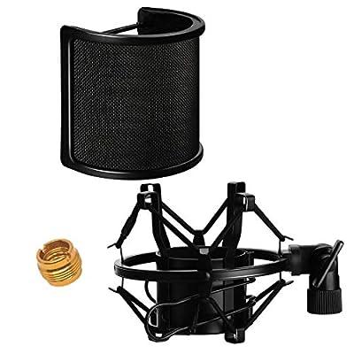 Amazon - Save 40%: DANIVE Microphone Shock Mount, Universal Mic Shock Mount with Pop Filter, Mi…