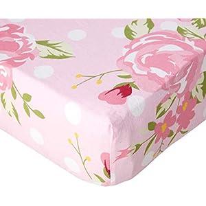My Baby Sam Crib Sheet, Rosebud Lane, Pink