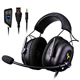 Vowor Over Ear Headphones 7.1 Surround Sound Gaming Headset Works with PC, PS4 PRO, Xbox One S,Cell Phone SOMIC Active Noise Canceling with Mic HI-FI USB Jack Game Earphones (G936N)