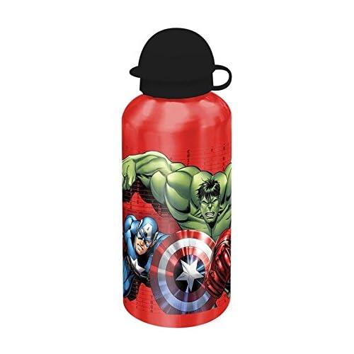 Avengers - Borraccia 500 ml, Colori Assortiti: Grigio/Rosso/Blu