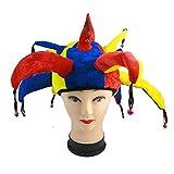 ysister Sombrero de Payaso con Nariz de Payaso Divertido Jester Multicolor Gorra Carnival Holloween Party Accesorios de Cosplay para Mardi Gras, Halloween o Fiestas temáticas