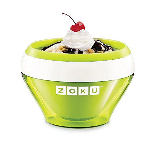 Best Bargain Zoku Ice Cream Maker, Compact Make and Serve Bowl with Stainless Steel Freezer Core Cre...