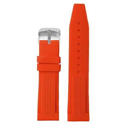 Alexis 22mm color naranja suave silicona Jelly Goma Damas Reloj Banda correas + herramienta de eliminación de barra de resorte
