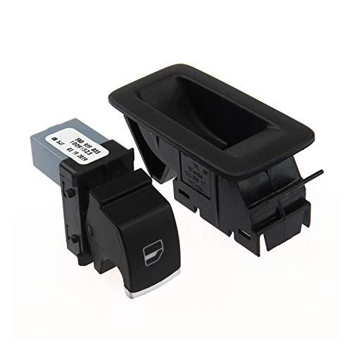 PREPP Switch de Control de Vidrio de Vidrio de Ventanas de Potencia y Marco de Panel con Ajuste para VW Passat B6 Jetta Golf 5 MK6 TOURAN TIGUAN 5ND959855 1KD959855