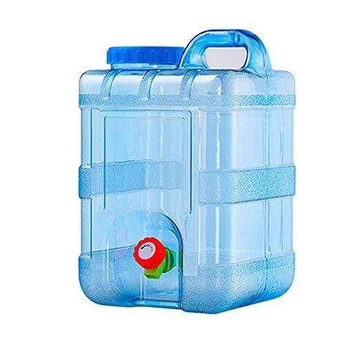YNWUJIN Cubo de Agua Potable de 15L / 20L Al Aire Libre, Cubo de Agua Mineral Del Hogar, Cubo de Alenamiento de Agua Vertical Rectangular, Cubo de Alenamiento de Agua de Conducción Automática, con Gr