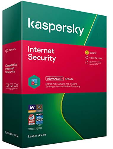 Kaspersky Internet Security 2021 Standard | 3 Geräte | 1 Jahr | Windows/Mac/Android | Aktivierungscode in Standardverpackung