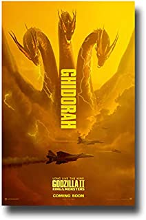 Godzilla II Poster Movie Promo 11 x 17 inches King of The Monsters 2019 Ghidorah Jets