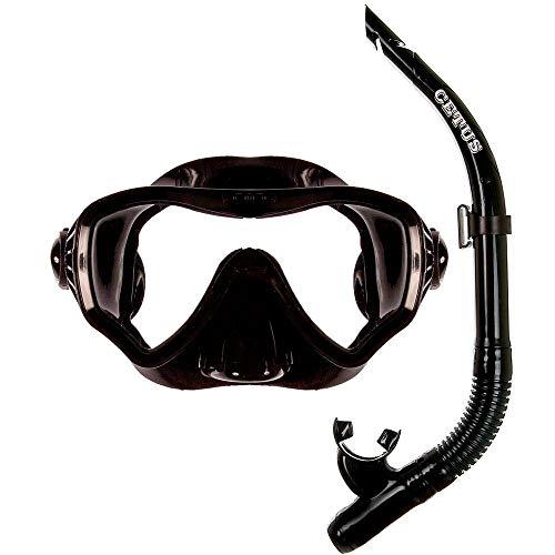 Kit de Mergulho Máscara+respirador Cetus New Parma Pro - Preto