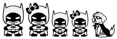 Price comparison product image Batman Stick Family JDM Black Decal Vinyl Sticker / Cars Trucks Vans Walls Laptop / Black / 7.5 x 3 in / LLI541