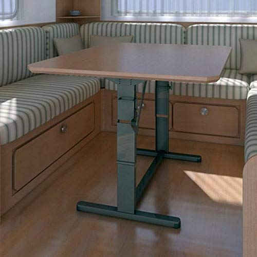 FAWO Hubtisch Tisch HTA 750 Schlafnutzung Tischgestell Wohnwagentisch Caravan Höhenverstellbar braun