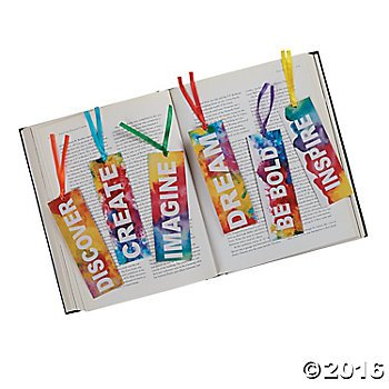 Inspirational RAINBOW Watercolor Laminated 6' BOOKMARKS - INSPIRE Dream IMAGINE Create - Party Favors TEACHER Rewards MOTIVATIONAL (Package of 48)
