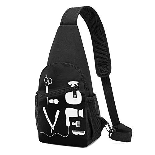 Sling Bags for Men Crossbody Backpack Barber-Tools Shoulder Daypacks Adjustable Running Wrinkle Resistance Fanny Chest Packs